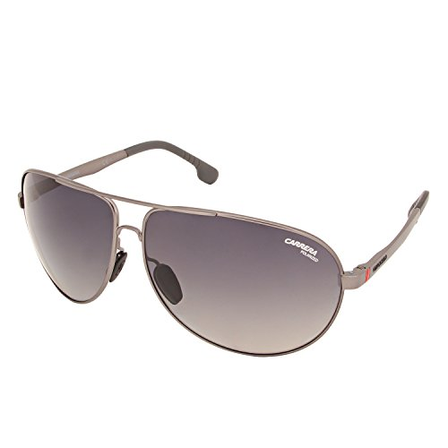 Carrera Men's Polarized Aviator Sunglasses, Matte Dark Ruthenium