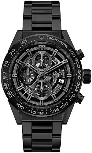 TAG Heuer Carrera Matte Black Ceramic Case & Bracelet Mens Watch