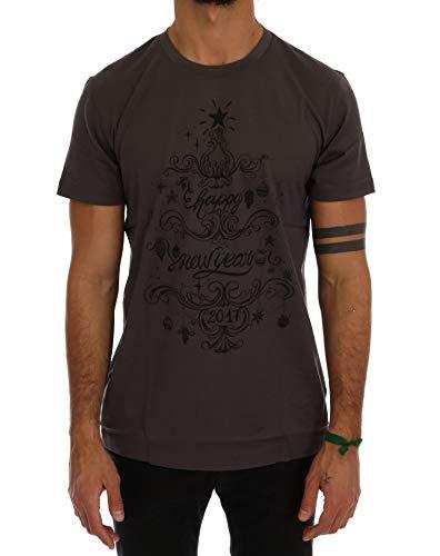 Dolce & Gabbana Red Cotton 2017 Motive Print T-Shirt