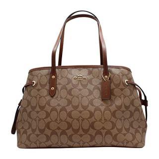 Coach Women's Hand shoulder bag Khaki /Brown
