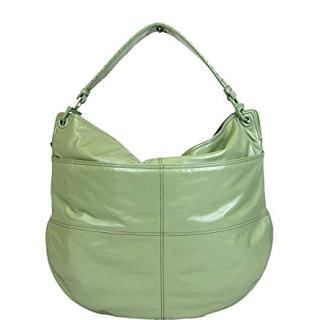 Bottega Veneta Women's Green Leather Hobo Woven Detail Bag