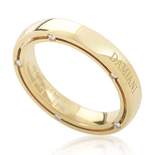Damiani D.Side Brad Pitt 18K Yellow Gold 10 Diamond Band Ring