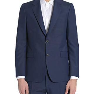 Alexander McQueen Men's Blue Wool Blazer