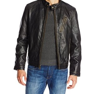 Marc New York by Andrew Marc Men's Radford Distressed Retro Cow Leather Jacket