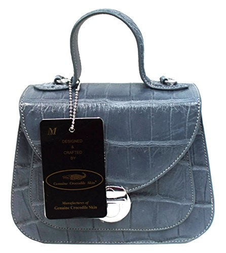 Authentic M Crocodile Skin Womens Belly Clutch Shoulder Bag