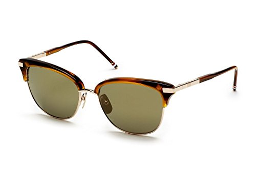 THOM BROWNE Walnut12k Gold w/G15Gold FlashAR Sunglasses