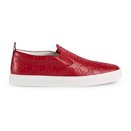 Gucci Men's Dublin Signature Slip-On Sneaker, Red