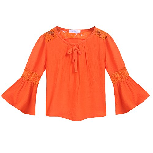 Arshiner Little Girls Cotton Long Sleeve Casual T-Shirt Top