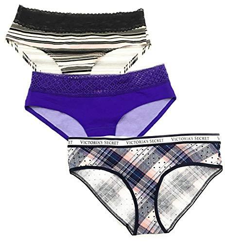 Victoria's Secret Lace Trim Low-Rise Hiphugger Hipster Panty Set