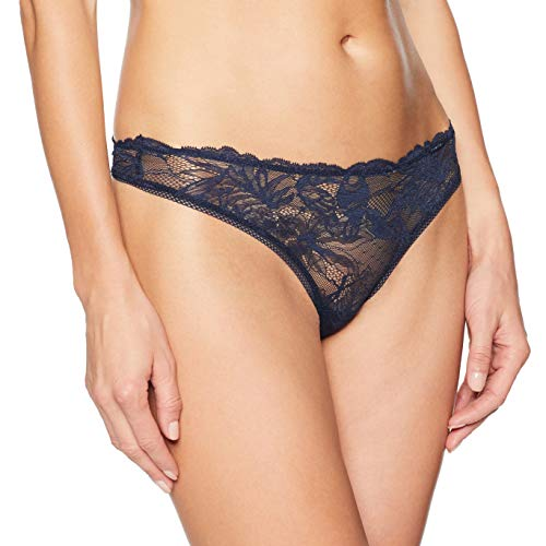 Calvin Klein Women's Bird Lace Thong, Shoreline, Small