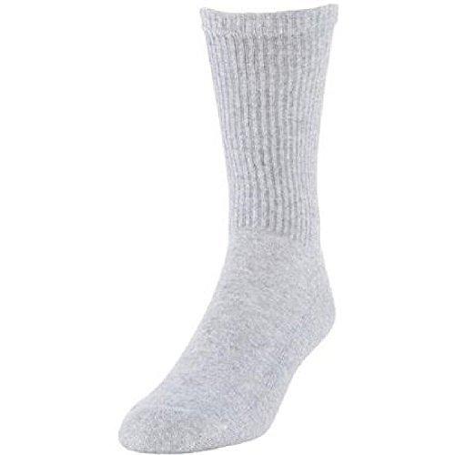 Gildan MensCrew Socks 12 - 15 Extended Size, Gray