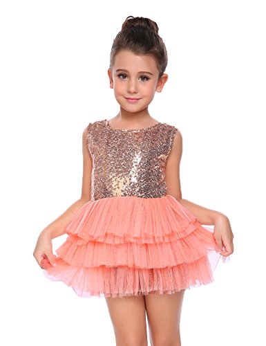 Arshiner Little Girls Sleeveless Metallic Pleated Tulle