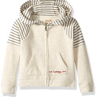 Roxy Toddler Girls' Sky and Sand Zip-up Fleece Sweatshirt