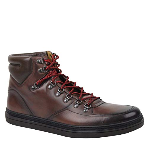 Gucci Hi top Shaded Brown Leather Sneakers Boots