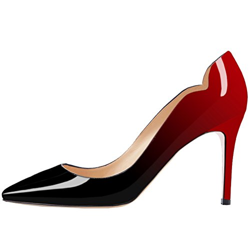 June in Love Women's Office Basic Slip On Pumps Stiletto