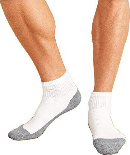 Gildan mens Platinum Ankle Socks -WHITE-OS