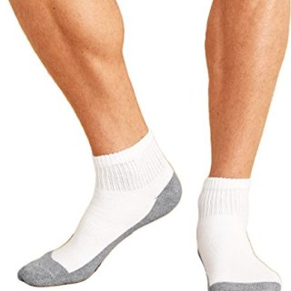 Gildan mens Platinum Ankle Socks -WHITE-OS