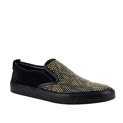 Gucci Studded Slip Black Suede Leather Shoes Sneakers