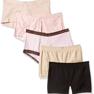 Maidenform Women's 5-Pack Boyshort Sampler Assortment Panties