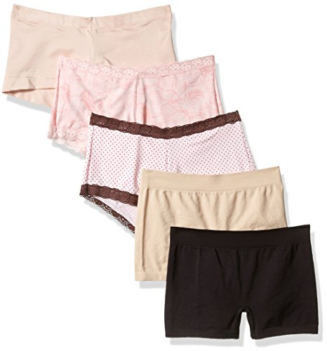 Maidenform Women's 5-Pack Boyshort Sampler Assortment Panties