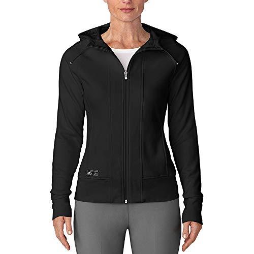 adidas Golf Women's Full Zip Hoodie, Black, Large