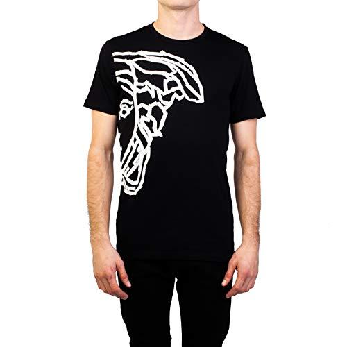 Versace Collection Men's Cotton 'Tape' Medusa Graphic T-Shirt