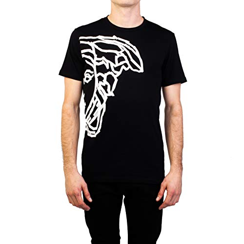 Versace Collection Men's Cotton 'Tape' Medusa Graphic T-Shirt