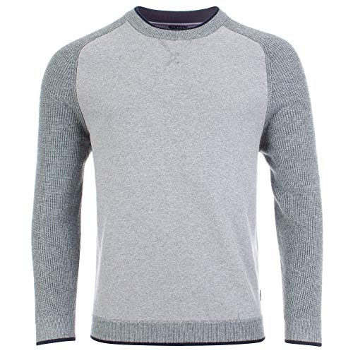 Ted Baker Mens Crew Neck Knitted Jumper in Grey XXL