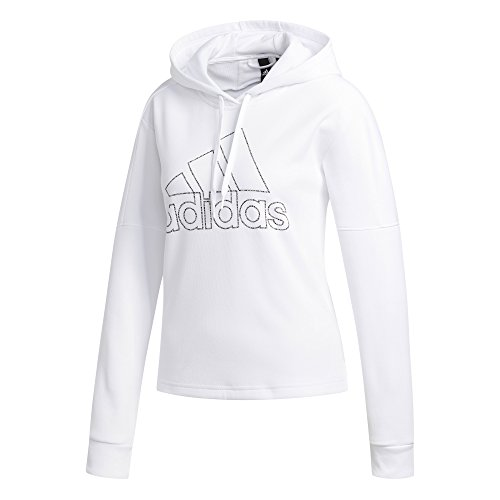 adidas Athletics Team Issue Pullover Hoodie, White, Medium