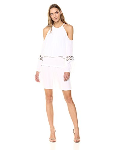 Ramy Brook Women's Libby Dress, Ivory Small