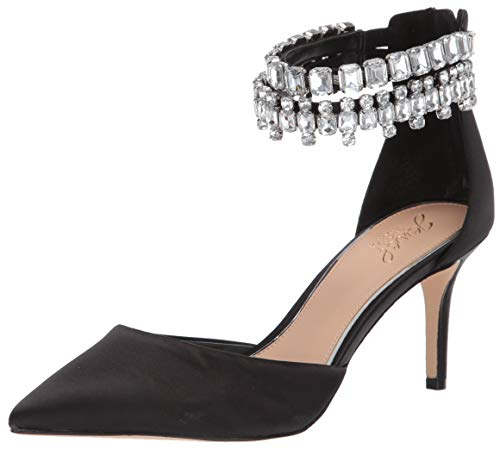 Badgley Mischka Jewel Women's DAMONICA Pump, Black Satin