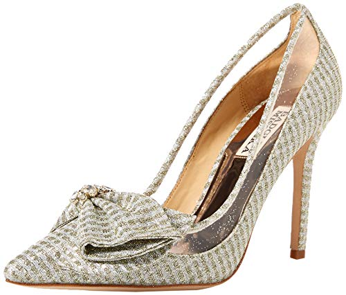 Badgley Mischka Women's Frances Pump Platino Fabric