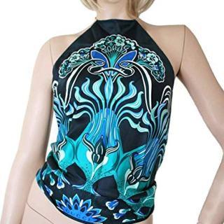 Gucci Women's Multicolor Silk Floral Scarf Halter