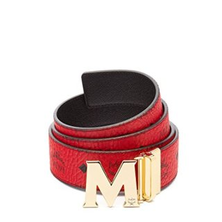 MCM Unisex Adult Project (RED) Claus Reversible Belt, Ruby, One Size