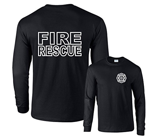 Fair Game Fire Rescue Long Sleeve T-Shirt-Black-XL