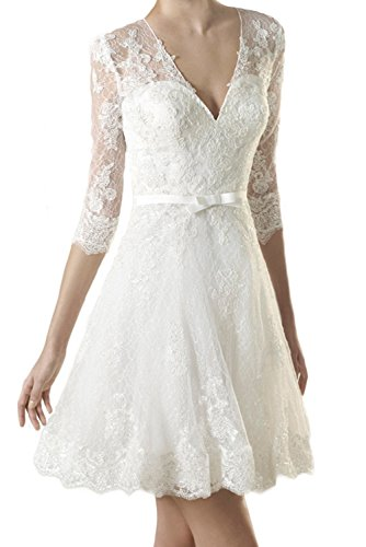 MILANO BRIDE 2017 Short Wedding Dress V-Neck