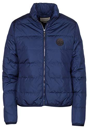 Gucci Women's Blue Down Hooded Puffer Jacket, Blue, L