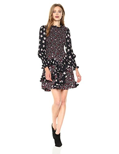 Rebecca Taylor Women's Longsleeve Print Mix Dress