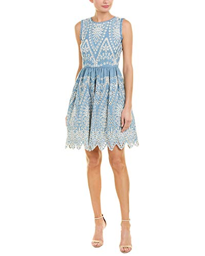 Shoshanna Women's Mollina Sleeveless Fit and Flare Dress