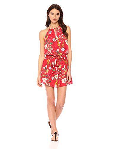 Parker Women's Larissa Sleeveless Printed Floral Silk Mini Dress