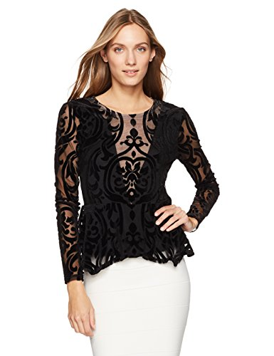 Women's Colleen Knit Peplum Top, Black S