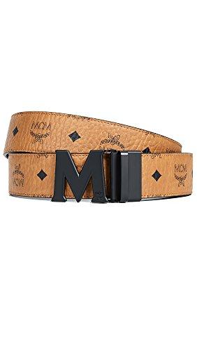 MCM Men's Claus Reversible Belt, Cognac, One Size
