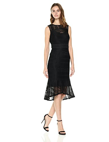 Nanette Nanette Lepore Women's Sleeveless Stretch Lace Midi Dress