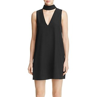 Yumi Kim Women's Edie Collared Cutout Shift Dress Black