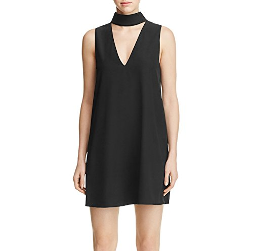 Yumi Kim Women's Edie Collared Cutout Shift Dress Black