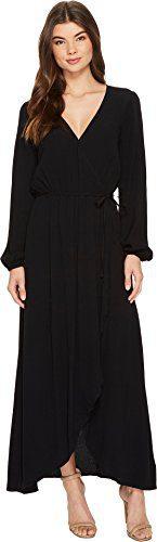 Splendid Women's Wrap Dress Black X-Small