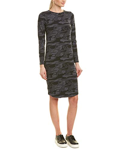 Monrow Women's Camo Fitted Long Sleeve Dress