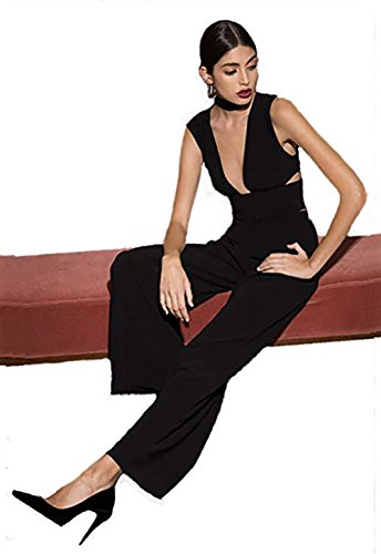 StyleStalker Micah Wide Leg Jumpsuit in Noir (Large)