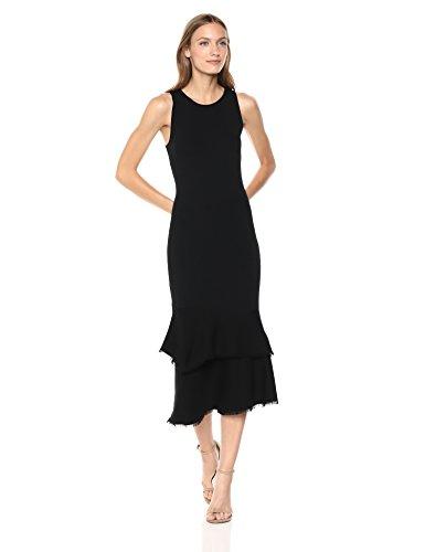 Theory Women's Sleeveless NILIMARY MIDI Dress, Black M