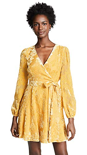 Yumi Kim Women's Royalty Dress, Gold Velvet Burnout